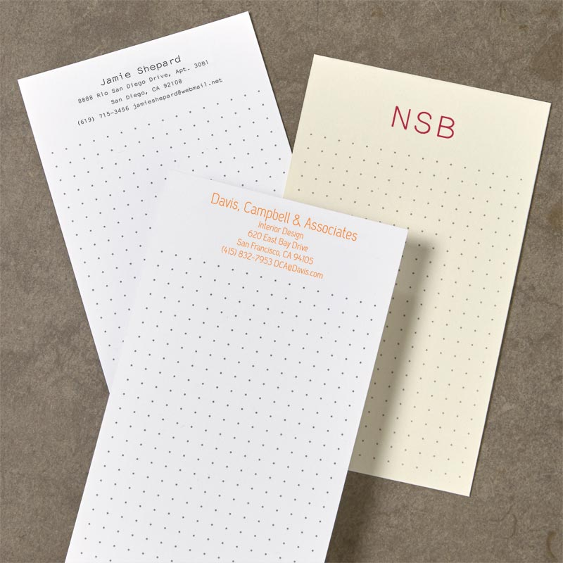 Personalized index cards